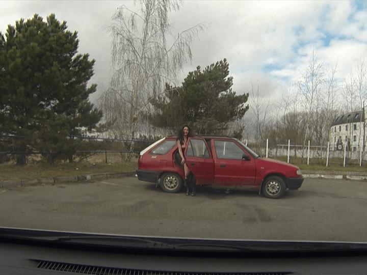 Private Aufnahme von junger Autobahnnutte